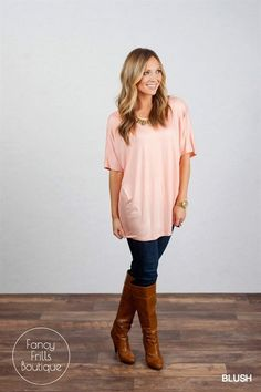 Choosing what to wear has never been so easy! This short sleeve tunic is perfect on its own or as a layered piece in all of your spring outfits!