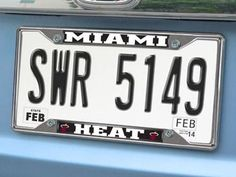 "NBA - Miami Heat License Plate Frame 6.25""""x12.25"""""