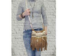 Fringe purse Cross body bag handbag Boho Gypsy Hippie by BukiBuki
