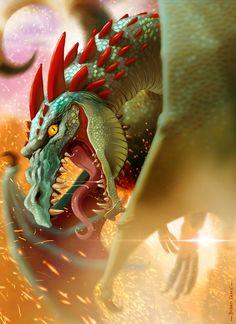 Redhorn dragon / digital painting