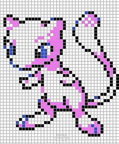 Pokemon from the Generation 1 Series. Placed in grid format to make it easier for pixel-arters to create on minecraft, in hama form, cross-stitch or other form of non-isometric pixel art. (All righ. Pokemon Sprites, Pokemon Mewtwo, Hama Beads Patterns, Beading Patterns, Cartoon Movie Characters, Pokemon Cross Stitch, Pixel Art Grid, Pokemon Perler Beads, Pixel Art Templates
