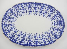 "Royal Worcester England Blue Ivy 19th c. Antique 14.5"" Serving Platter B652 #RoyalWorcester"