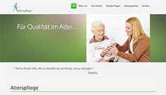 Design z.B. für: Alterspflege, Zahnarzt-Praxis, Arzt-Praxis... Web Design, Alter, Nursing Care, Design Web, Website Designs, Site Design