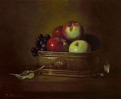 "FRANK ARCURI  ""AUTUMNAL OFFERING""  OIL ON LINEN  11 1/8 x 13 3/8 INCHES"