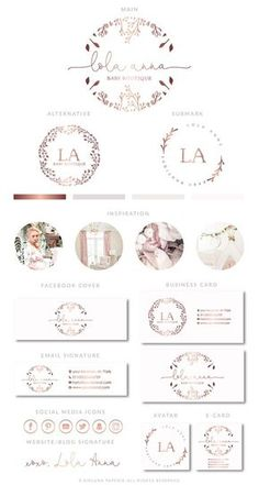 Find tips and tricks, amazing ideas for Fashion logo design. Discover and try out new things about Fashion logo design site Logo Floral, Fashion Logo Design, Web Design, Branding Kit, Branding Design, Logo Boutique, Baby Boutique, Logos Photography, White Photography