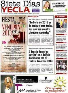 ya está disponible la portada del Siete días Yecla  y a partir de mañana en todas las librerías y estaciones de servicio de nuestra localidad