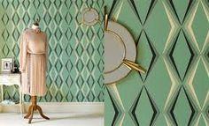 Image result for green art deco wallpaper