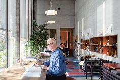Tranquillity pervades Peter Zumthor's atelier in Haldenstein, eastern Switzerland.