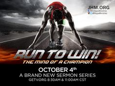 """Coming Sunday...""""The Mind of a Champion."""" This is a race you cannot afford to lose!"""