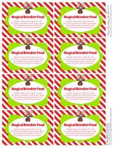 Reindeer food label