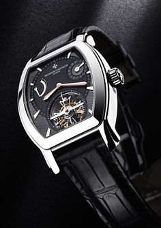 Vacheron Constantin Malte Tourbillon Steel Black Dial Rose Gold Indexes