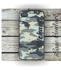 personalized camo iphone 4 case, iphone 4s case, iphone 5 case on Etsy, $16.99