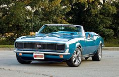 1967 Blue Camaro RS SS 350 Convertible