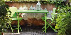 Mobilier de jardin Zic Zac coloré, astucieux pour les balcons et petits espaces, 100% recyclable!