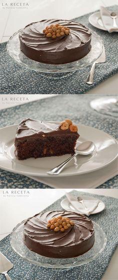 Tarta de cacao con avellanas - http://larecetadepatricia.blogspot.com.es/