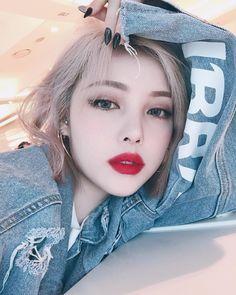 Pin by b l o o d q u e e n on (: lalala pony makeup, korean eye makeup, ulz Korean Makeup Look, Asian Makeup, Korean Beauty, Asian Beauty, Cute Korean Girl, Asian Girl, Japonese Girl, Pony Makeup, Ulzzang Makeup