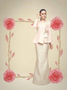 Raya 2015 by Innaired.com Modest Fashion, Hijab Fashion, Pastel Designs, Modest Wedding Gowns, Batik Fashion, Traditional Dresses, Bridesmaid Dresses, Bridesmaids, Evening Dresses