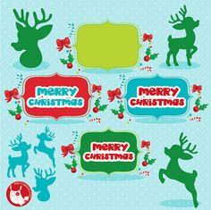 80% OFF VENTA Navidad clipart uso comercial Navidad silueta