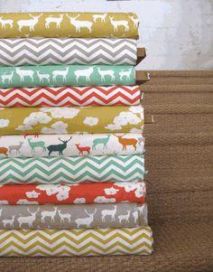 Jay-Cyn Designs for Birch Organic Fabrics, Elk Grove KNIT, Poppies Coral