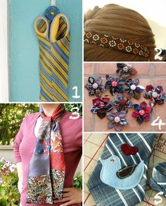 Necktie Crafts to Bust Your Stash - Glue and Glitter