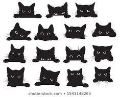 Black Cat Drawing, Black Cat Art, Black Cats, Halloween Drawings, Halloween Cat, Smal Tattoo, Cat Outline, Tattoo Schwarz, Black Cat Tattoos