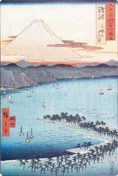 """Pine Beach at Miko""; by Ando Hiroshige"