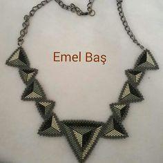 Peyote necklace by Emel Bas