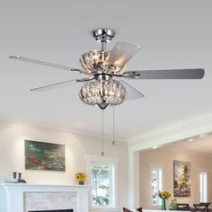 Tired Of The Boring Ceiling Fan Light Kits Buy A Sparkly Flush Mount Fixture With The Hole In