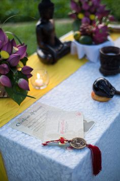 Altar set up for your  Buddhist blessing. #HoiAnEvents #HoiAnEventsWedding #BuddhistWedding #BuddhistBlessing