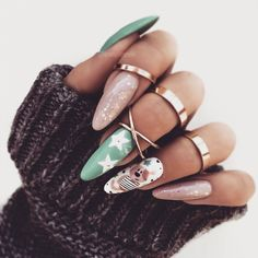 89 Most Gorgeous Nails Ideas for Winter Season You Will Feel Warm – Chicbetter Inspiration for Modern Women – Nagel Inspiratie Matte Nails, Gel Nails, Nail Polish, Almond Acrylic Nails, Almond Nails, Brown Nails, Blue Nails, Gorgeous Nails, Pretty Nails