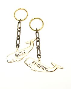 Best Friends Whales Key Chains Forever  I FUCKIN NEED THEM