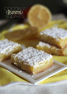 Coconut Lemon Squares. Two of my FAVORITE Spring flavors in one place!!