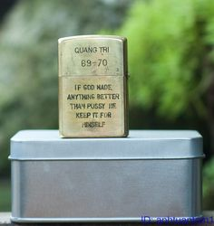 Vietnam War Memories Zippo Brass Lighter Viet Nam Quang Tri 69 70 | eBay