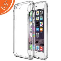 Find More Phone Bags & Cases Information about For iPhone 6 Plus Case Premium iPhone 6S Plus Clear Case Bumper 5.5 Inch Scratch Resistant Shock Absorbing Cover Hard Back Panel,High Quality cases for ipod touch 5g,China case clothes Suppliers, Cheap case guitar from Geek on Aliexpress.com
