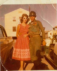 Private Presley is pictured with a fan named Barbara at Fort Hood,TX in May 1958. Also see: https://entertainment.ha.com/itm/music-memorabilia/photos/elvis-presley-two-black-and-white-photos-a-color-photo-slide-and-bullet-casings-from-his-days-in-the-united-states-army-/a/7164-89416.s?ic4=GalleryView-Thumbnail-071515#