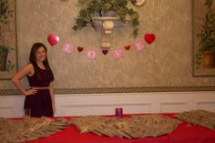 Sisterhood chair decorating the house for a valentines day sisterhood event!