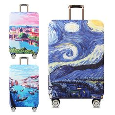 Bitcoin Pattern XL Luggage Covers Travel Luggage Cover Spandex Travel Luggage Cover Suitcase Protector Fits 18-32 Inch Luggage Case