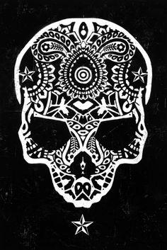 Star Skull Print by Ben Allen
