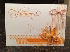 Orange butterfly card from set of four. This one's my favorite!
