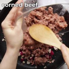 Move over potatoes, radishes make the crispiest and most decadent keto corned beef hash everrrrrrr.  Say hi to your new low carb breakfast bestie!  #ibih #lowcarb #keto #ketorecipes #ketobreakfastrecipes #ketobreakfast #glutenfree #cornedbeef