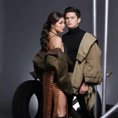 Revolution The JaDine Concert (ctto) James Reid, Nadine Lustre, Jadine, Pre Wedding Photoshoot, Blue Aesthetic, New Movies, Military Jacket, Beautiful Pictures, Photo And Video