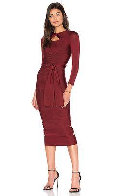 98ba622bc6c LOLITTA Sophia Long Sleeve Bodycon Dress in Bordo