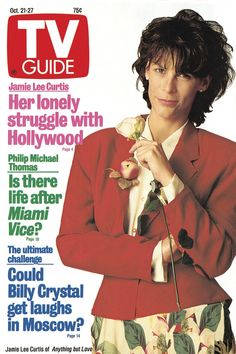 October 21, 1989. Jamie Lee Curtis of Anything but Love.