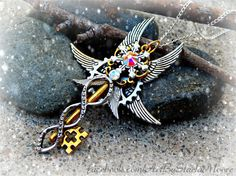 Northern Lights Fantasy Key Pendant / OOAK by ArtbyStarlaMoore Added to my collection!!