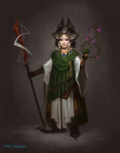infinitemachine:  Character of the Day:Dwarf Druid by VNC-Children