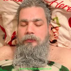 Over the years the elves have dyed my husband's beard gree, bit baubles in his beard, shaved his beard off wethought he'd escape this year but they dyed his hair and beard white. Woodland Elf, Father Christmas, Magical Creatures, Family Traditions, The Elf, Elves, Over The Years, Daddy, Husband