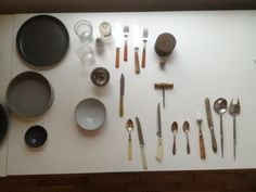 Prop table from #sweetpaul food styling & photography workshop. Photo from Rob Anderson.