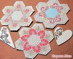 Пэчворк на бумажном шаблоне (English Paper Piecing), МК - Лоскутное Шитьё - Страна Мам