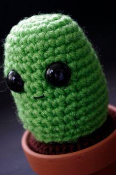 Cactus Amigurumi Plant Charlie Prickles Green Cozy by Cyclop, $16.00