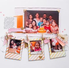 #papercraft #scrapbook #layout  First birthday by mpcapistran at @Studio_Calico